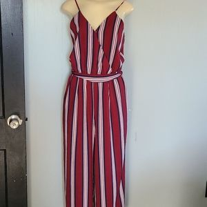 J for Justify Stripped Romper